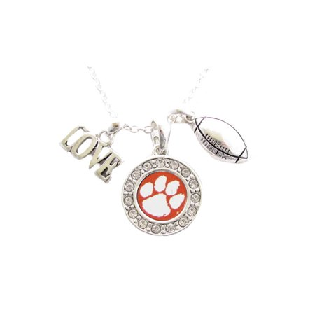 Clemson Tigers Football Multi Charm And Orange Charm Necklace Jewelry CU.](Football Charms)