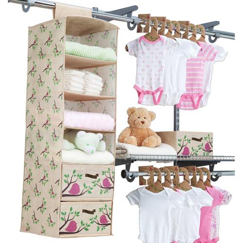 Delta - Eco Nursery Closet 20-Piece Starter Kit, Pink Chirp