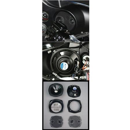 J&M 7.25 in. Speaker Upgrade kit for 06-12 Harley Street/Ultra/Electra (Best Speakers For Street Glide)