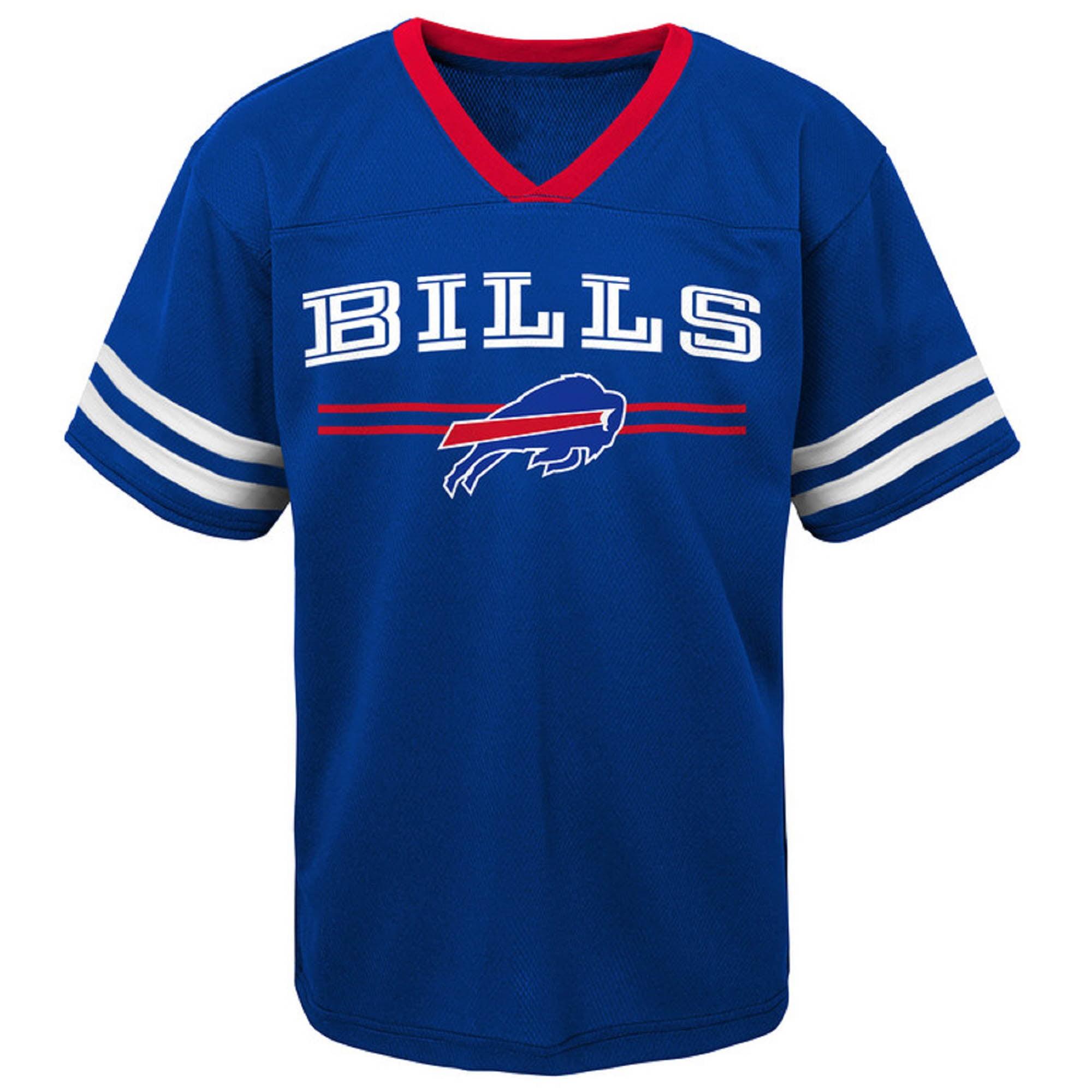 Toddler Royal Buffalo Bills Mesh Jersey V-Neck T-Shirt