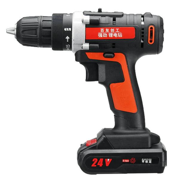 Cordless Drill Impact Wrench Gun Battery Socket Adapters Kit 2 Speed 15 Gear High Torque Drill With Led Light 12v 24v Walmart Com Walmart Com