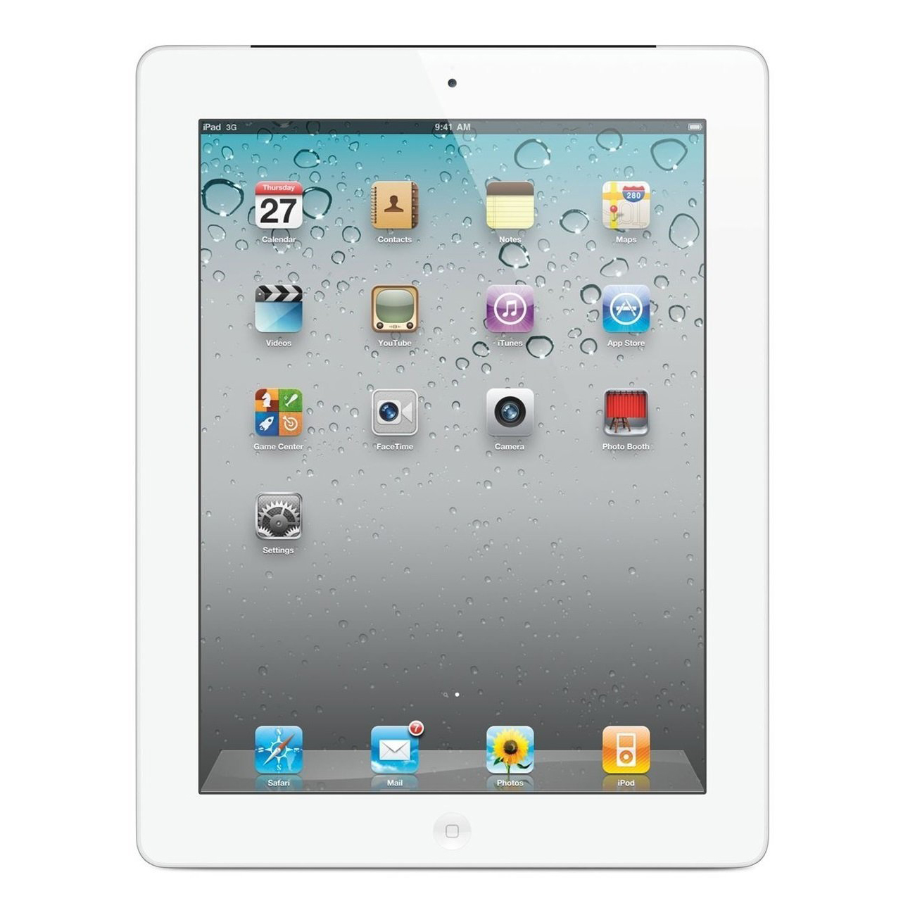 "Refurbished Apple Ipad 2 16GB 9.7"" Touchscreen Wi-Fi Dual Cameras Tablet - White - MC979LLA"