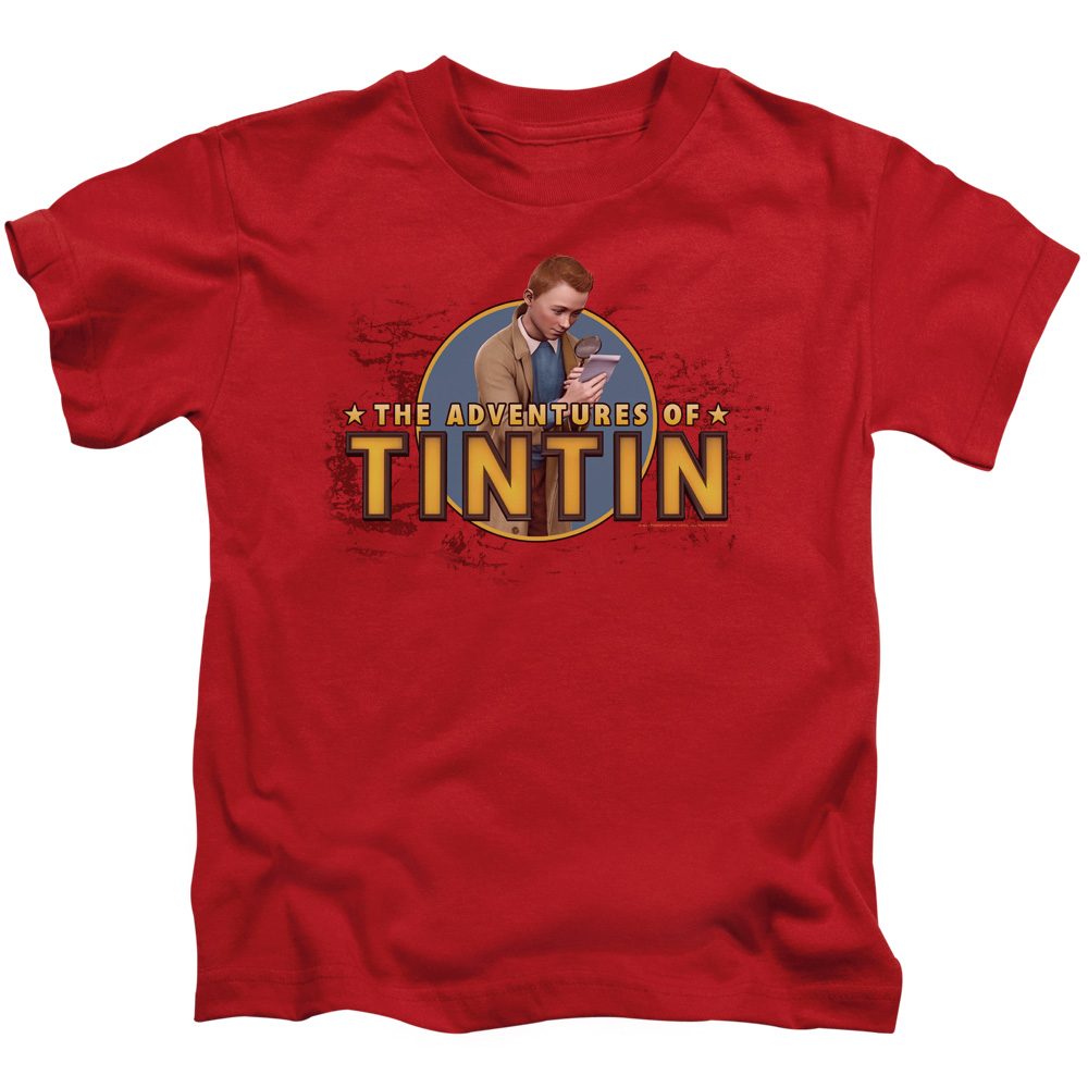 Tintin Looking For Clues Little Boys Juvy Shirt