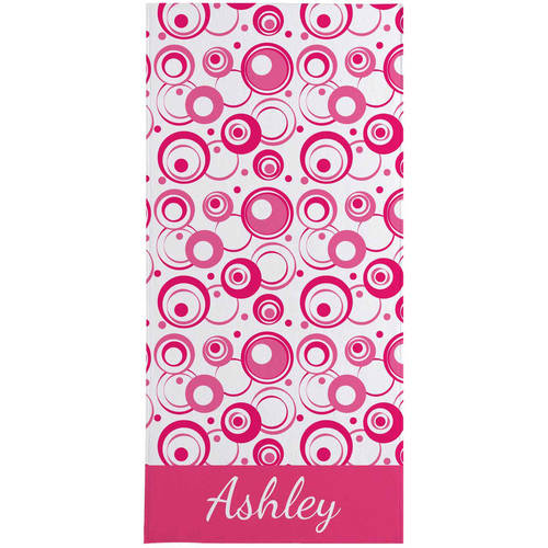 Personalized Retro Pop Beach Towel