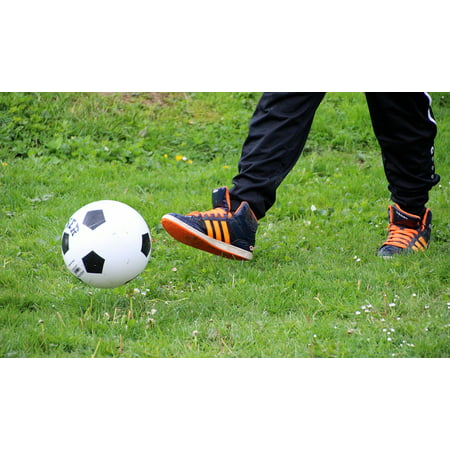 Canvas Print Football Sport Play Soccer Ball Game Ball Stretched Canvas 10 x 14
