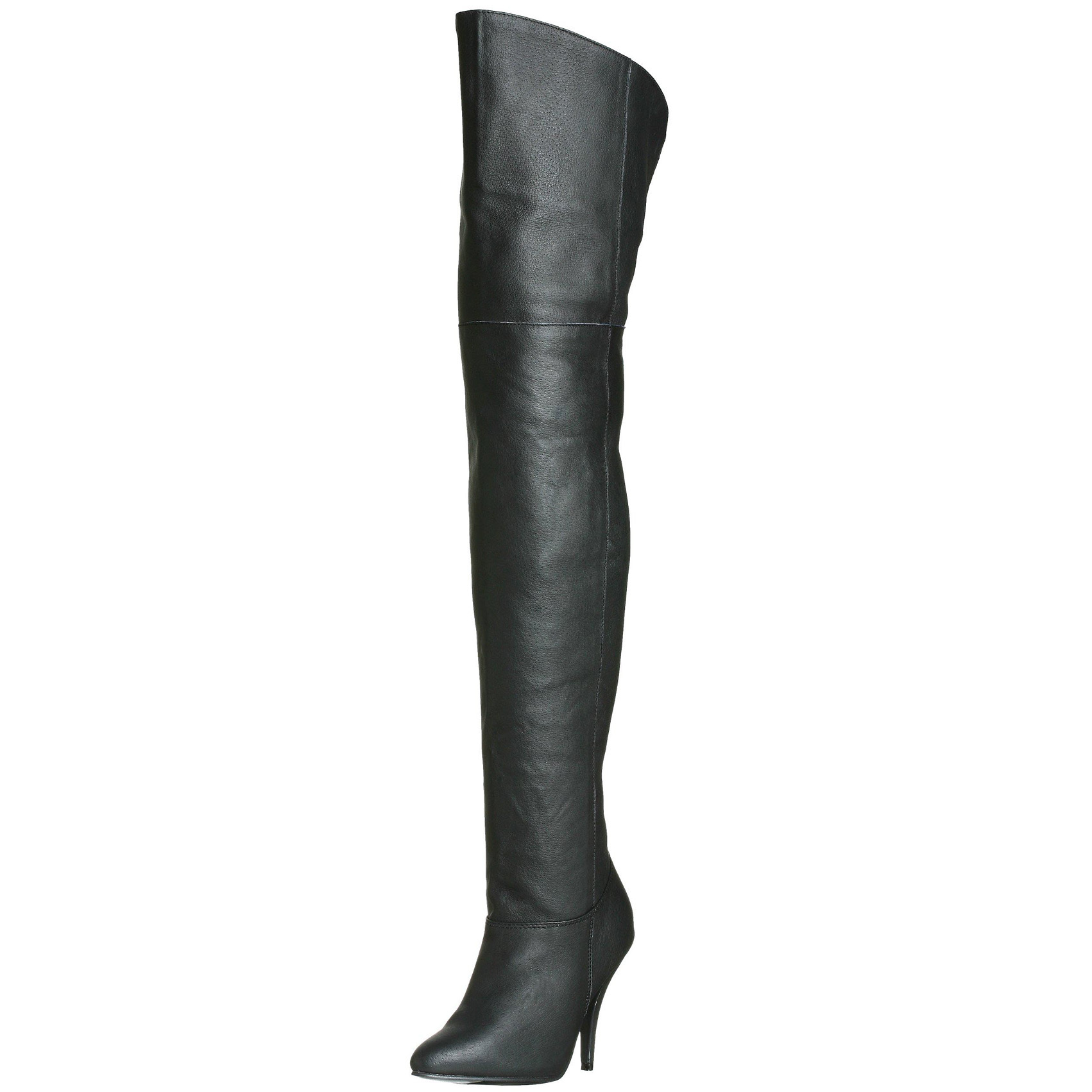 4 inch high heel leather boots black thigh high boots pull