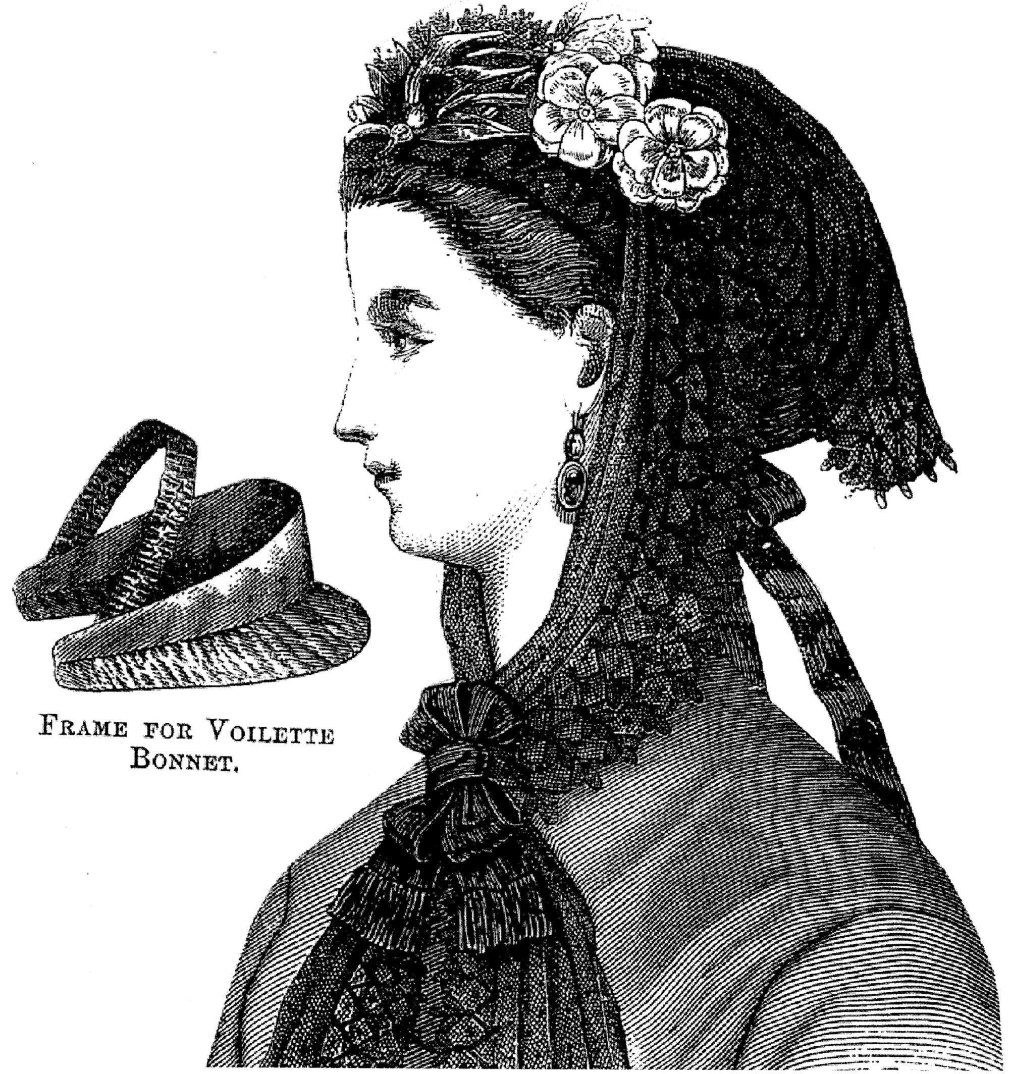 Sewing Pattern: 1869 Voilette Hat Pattern