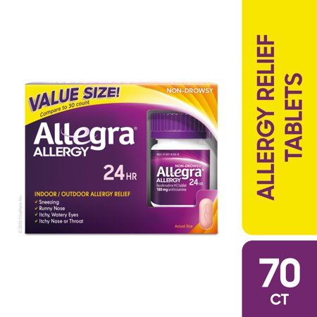 Allegra 24 Hour Allergy Tablets Value Size, 70 Ct