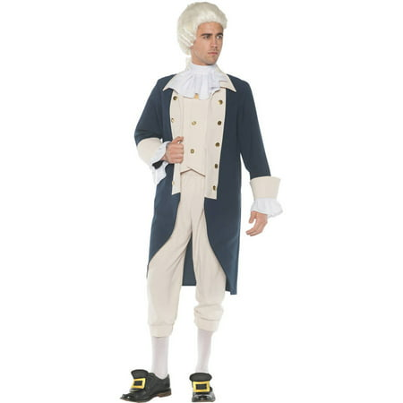 Founding Father Men's Adult Halloween Costume, One Size, (42-46)