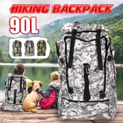 90L Waterproof Backpack Nylon Travel Camouflage Rucksacks For Mountaineering / Camping / Hunting Outdoor Sport Bag