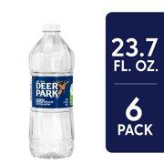 DEER PARK Brand 100% Natural Spring Water, 23.7-ounce plastic sport cap bottles (Pack of 6)