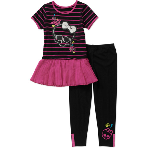 Monster High Girls' 2 Piece Tunic and Legging Set