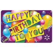 Birthday Celebration Walmart eGift Card