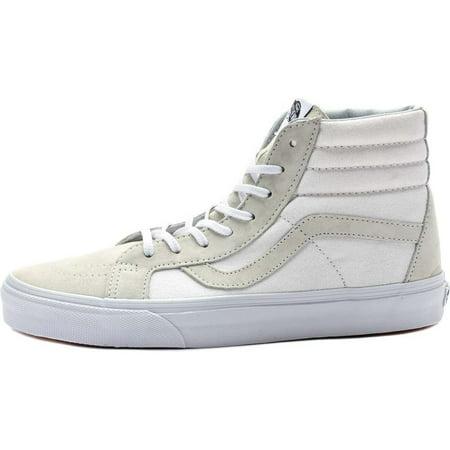 Vans Sk8 Hi White - Vans SK8 Hi Reissue CA Vansguard True White Men's Skate Shoes Size 10