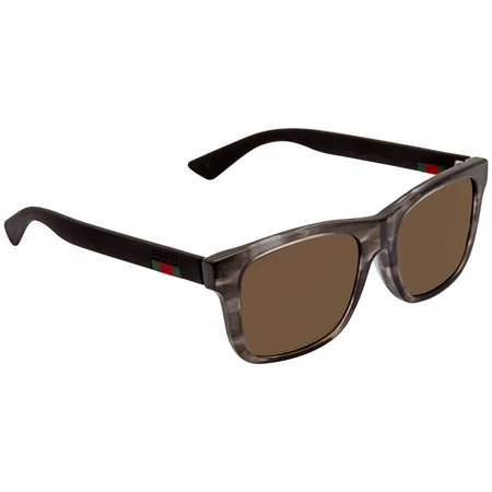 Gucci Brown Rectangular Men's Sunglasses GG0008SA 004 (Gucci Sunglasses For Men Price)