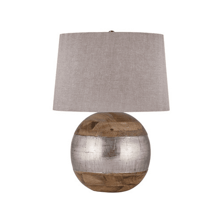 Table Lamps 1 Light With Mango Wood and German Silver E26 Bulb 27 inch 150 Watts