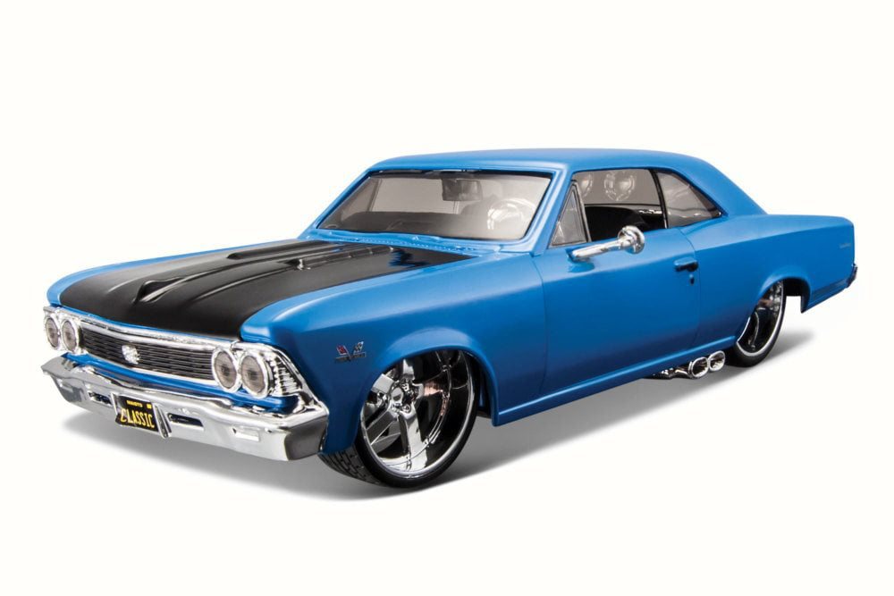 1966 Chevy Chevelle SS 396, Blue Maisto 31333 1 24 Scale Diecast Model Toy Car by Maisto