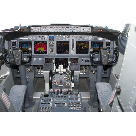 LAMINATED POSTER File photo of the Boeing 737-MMA cockpit The Department of Defense announced today that McDonnell Poster Print 24 x (Boeing Photo)