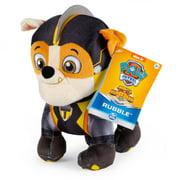 PAW Patrol Mighty Pups Super PAWs Rubble, Stuffed Animal Plush, 8 Inch