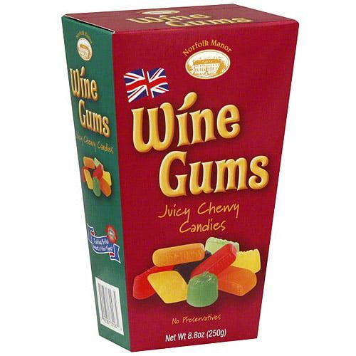 Norfolk Manor, Wine Gums Candy, 8 Oz (Pack Of 12)