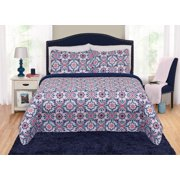 Quilt shams sets better homes and gardens purple tiles quilt sham set fandeluxe Gallery