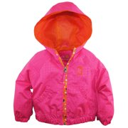 Pink Platinum Little Girls' Heat Stamp Print Hooded Jacket Spring Coat
