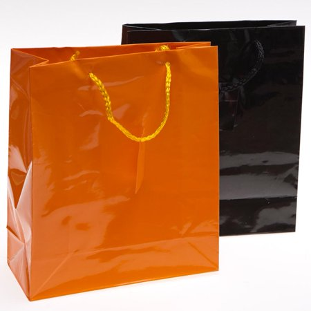 Halloween gift bags orange and black (Available in a pack of 24) (Homemade Halloween Party Gift Bags)