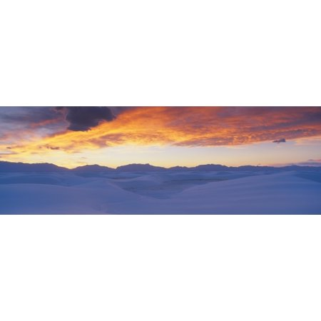 White Sands National Monument New Mexico Canvas Art   Panoramic Images  27 X 9