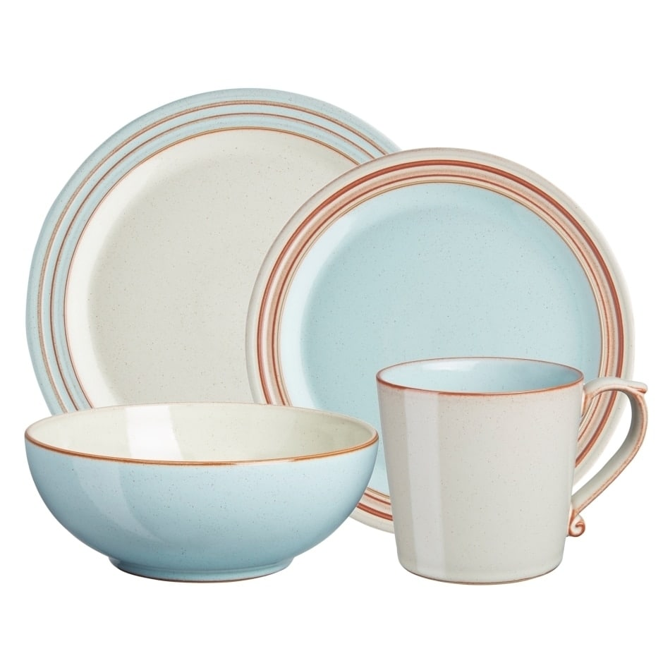 Denby Heritage Pavilion Blue 4-piece Place Setting by Overstock