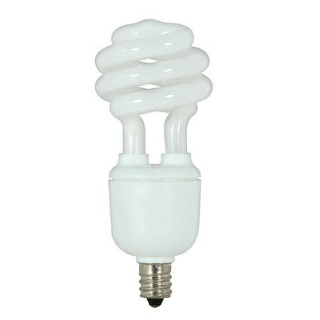 Satco S7363 9W T2 Ultra Mini Spiral E12 Candelabra base 5000K fluorescent (Base 5000k Compact Fluorescent Lamp)