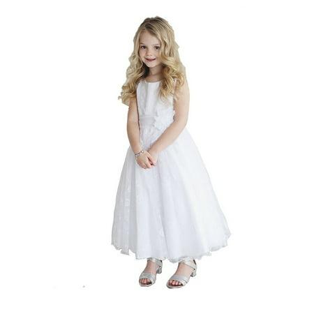 56f7c99ba774 Petite Adele - Little Girls White Lace Overlay Megan Flower Girl ...