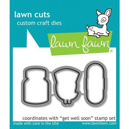 LF683 Die Cuts - Get Well Soon, Get Well Soon Lawn Cuts coordinate with the stamp set Get Well Soon. By Lawn - Halloween Die Cut