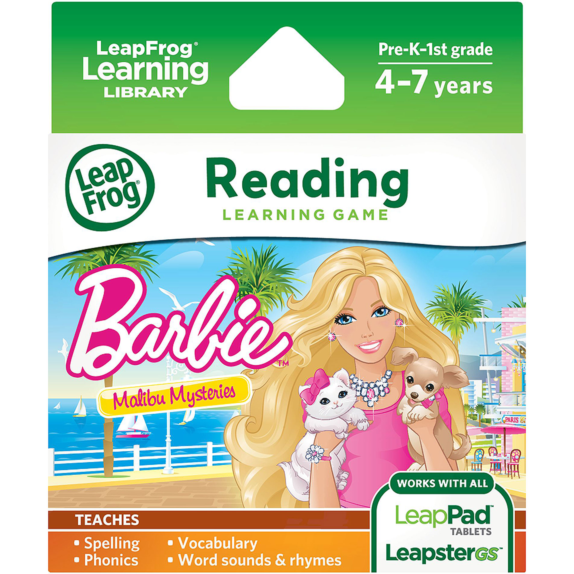 LeapFrog Learning Game: Barbie Malibu Mysteries (for LeapPad Tablets and LeapsterGS)