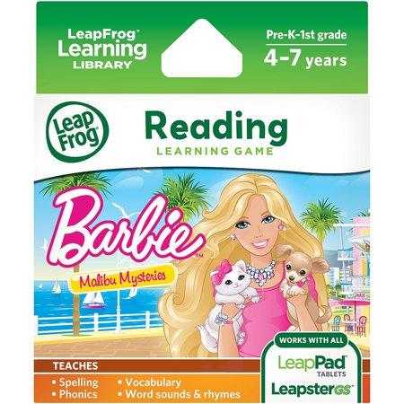 LeapFrog Learning Game: Barbie Malibu Mysteries (for LeapPad Tablets and (Best Leappad Games For 3 Year Old)