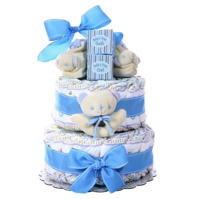 Two-Tier Diaper Cake (Select Color) - (Seasonal & Occasions) - Diaper Cakes For Sale