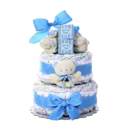 Two-Tier Diaper Cake (Select Color) - (Seasonal & Occasions) - Elephant Diaper Cake