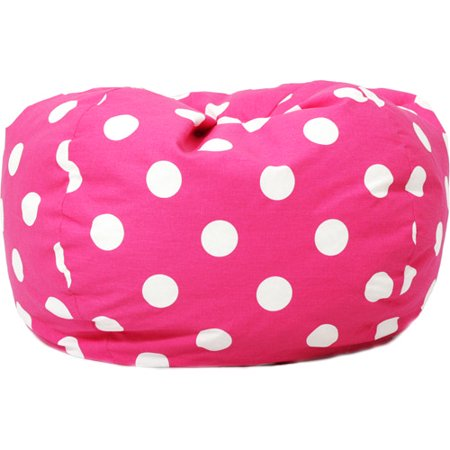 Fine Big Joe 0630251 Candy Pink Polka Dot Classic Bean Bag Chair White Gmtry Best Dining Table And Chair Ideas Images Gmtryco