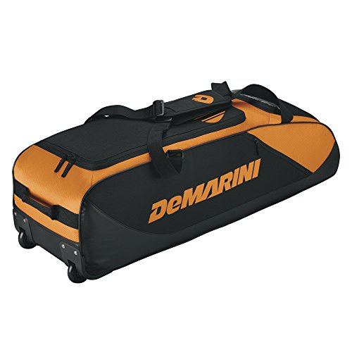 DeMarini WTD9405PR 6 Bat D-Team Wheeled Baseball Equipment Bag (Orange)