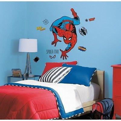 Spiderman 38 Giant Wall Decals Classic Marvel Room Decor Stickers Comic Book Walmart Com Walmart Com