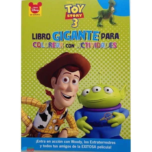 Toy Story Buzz Woody Jessie Jumbo 64 Pg Coloring And Activity Book Green Walmart Com Walmart Com