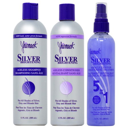 Jhirmack Silver Brightening Ageless Shampoo + Conditioner 12oz + Leave in 8.2oz