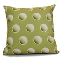 E by Design Jump For Joy Dip Dye Dots Print Outdoor Pillow