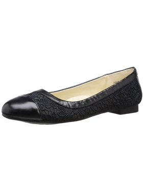 Annie Shoes Women's Ensign Ballet Flat, Black, Size 6.5