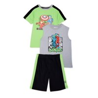 Marvel Iron Man Boys Tank, Graphic T-shirt & Shorts, 3-Piece Outfit Set, Sizes 4-7