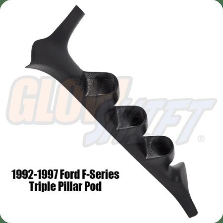 1992-1997 Ford F-Series F-250 F-350 Power Stroke Triple Gauge Pillar Pod