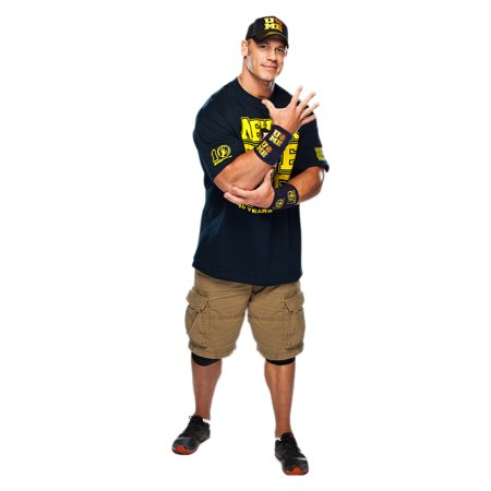 Advance Graphics John Cena Navy and Gold Shirt On WWE Party Decoration Lifesize Cardboard Standup Poster Cutout Standee - Cardboard Fireplace Decoration