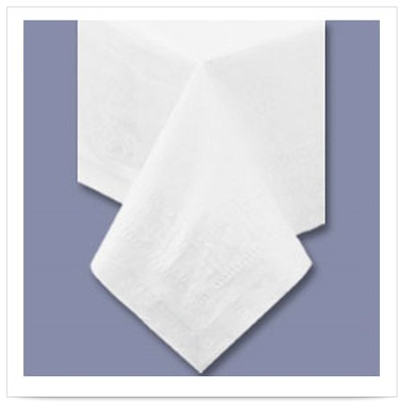 54 x 54 White Tablecover 2 Ply Tissue 1 Ply Poly/Case of 50 ()