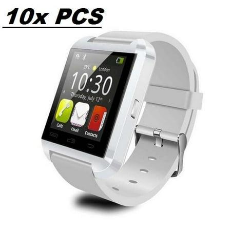 10 Pack U8 White Smart Watch Wholesale Lot Touch Screen Bluetooth Smart  Wrist Watch