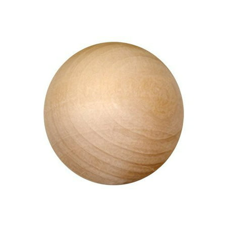 My Craft Supplies Unfinished Wood Round Balls 1 Inch Pack of 25 - Unfinished Wood Craft Supplies
