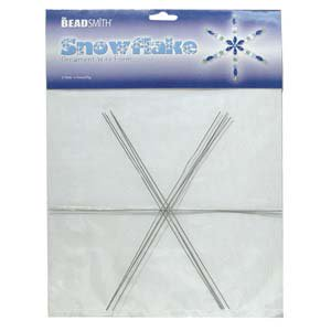 Metal Wire Snowflake Forms - Fun Craft Beading Project 9 Inches (4 Snowflakes)](Valentine Art Projects)